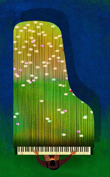 Savannah Music Festival illustation by Brian Stauffer
