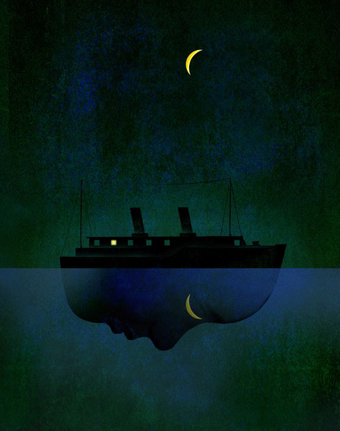 The Night Ferry illustration by Brian Stauffer