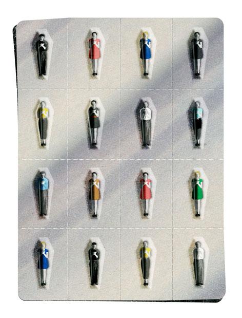 Teen Pill Mill illustration by Brian Stauffer