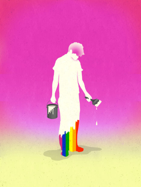 Anti Gay Therapy illustration by Brian Stauffer