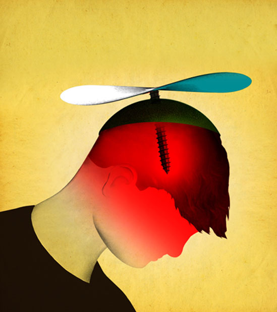 Childhood Migraines illustration by Brian Stauffer
