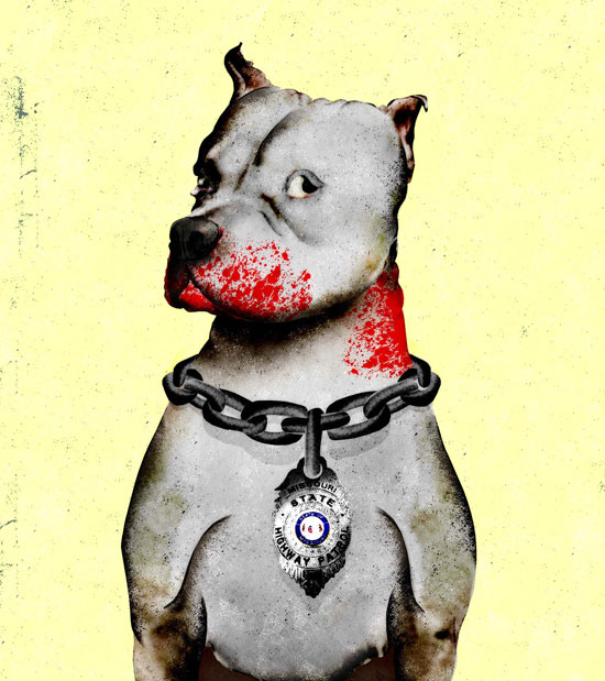 Undercover Dogs illustration by Brian stauffer