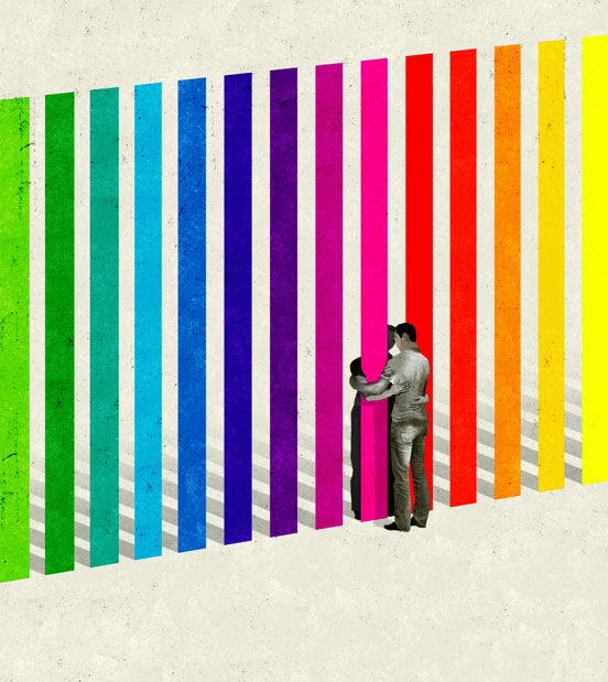 Immigration Against Gay Marriage illustration by Brian Stauffer