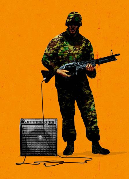 Rock & Roll War illustration by Brian Stauffer