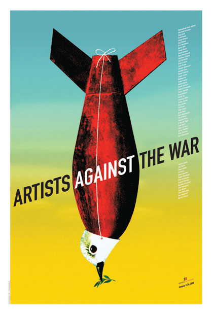 Artists Against the War poster by Brian Stauffer