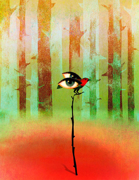 Transcendentalism illustration by Brian Stauffer