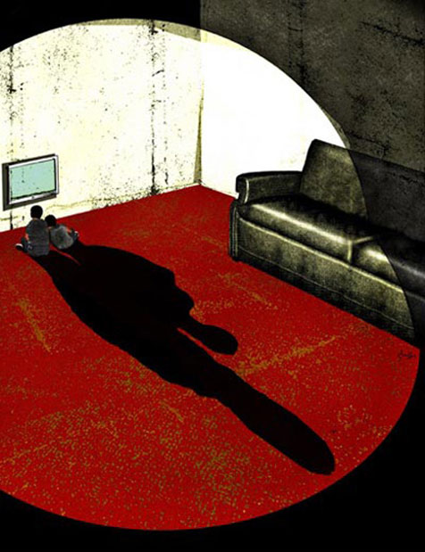 Left Alone illustration by Brian Stauffer