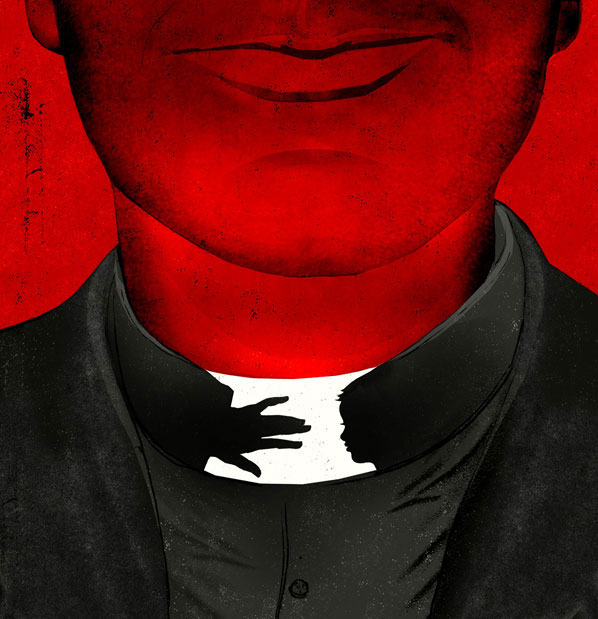 Pedophile Priest illustration by Brian Stauffer