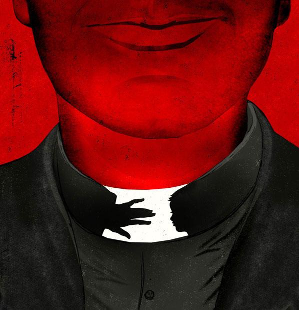 Pedophile Priest illustration by Brian Stauffer