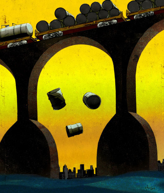 Toxic Train illustration by Brian Stauffer