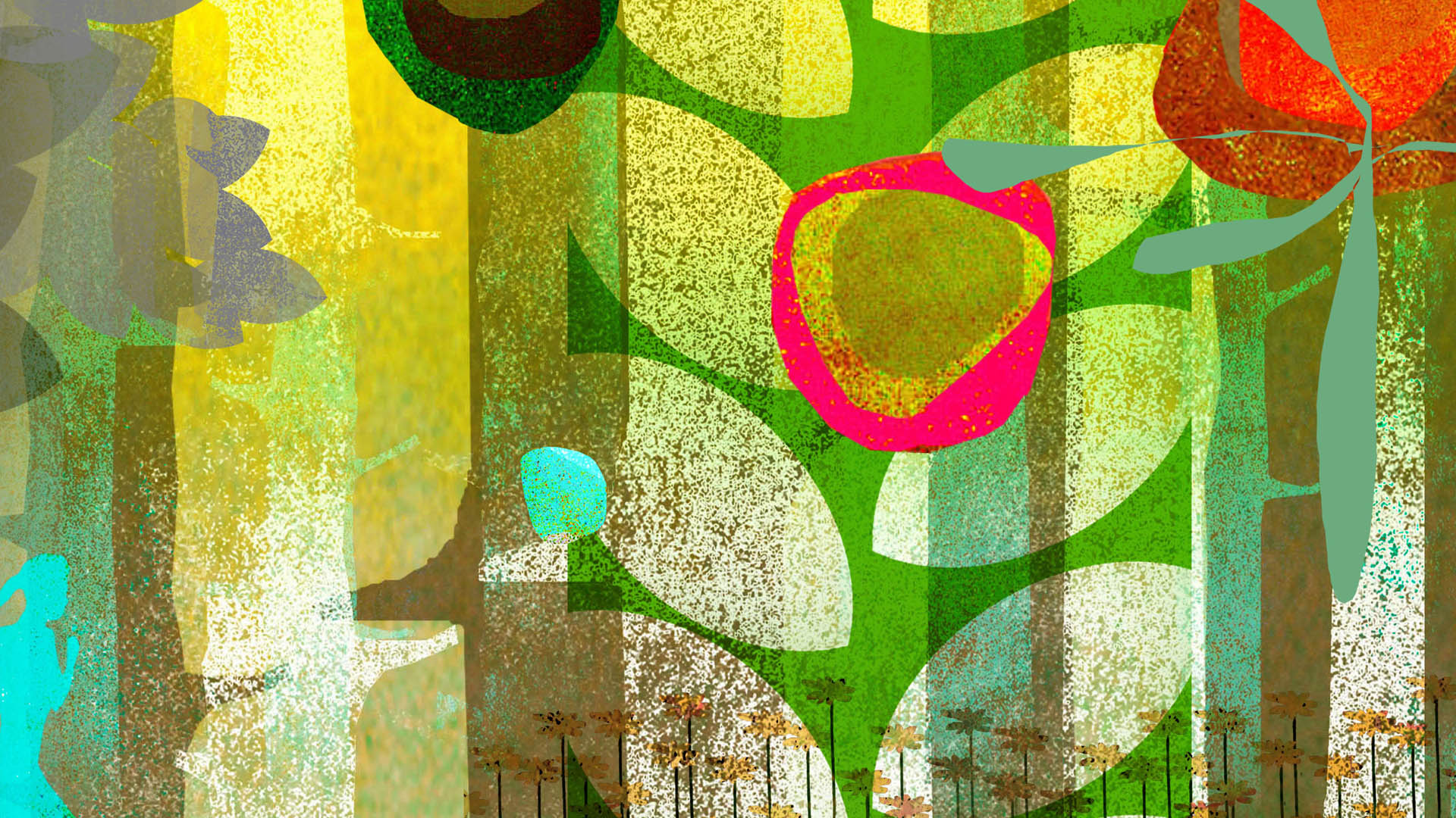 Brian Stauffer home slide – lush bright texture