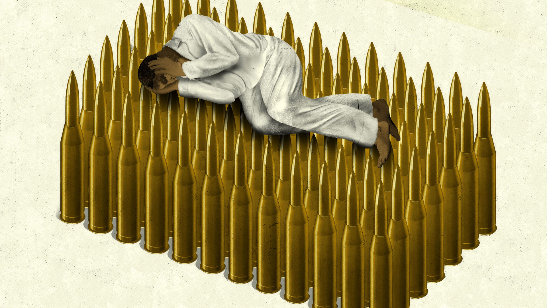 Brian Stauffer home slide – PTSD bullet bed