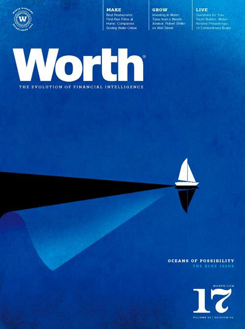 The Water Issue Worth Magazine Cover illustration