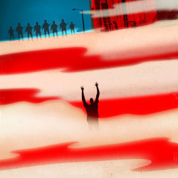 Hands Up, Ferguson illustration by Brian Stauffer