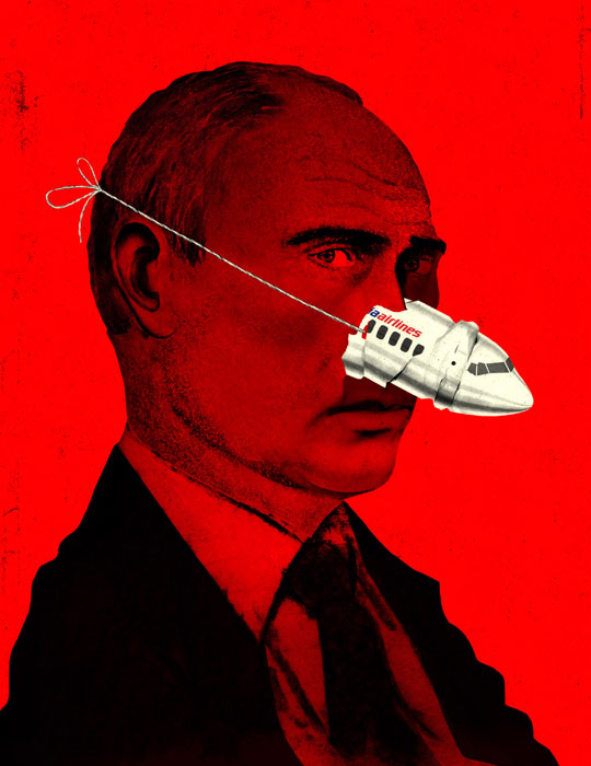 Pinocchio Putin illustration by Brian Stauffer