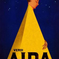 Verdi's Aida Theatre Poster by Brian Stauffer