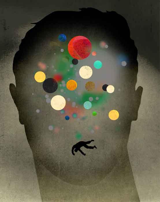 Brain Chemistry Imbalance illustration by Brian Stauffer