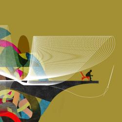 Custom Homes Worth Magazine Cover illustration by Brian Stauffer