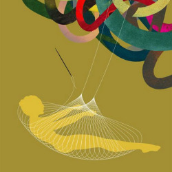 Handmade Luxury Cover illustration for Worth Magazine by Brian Stauffer