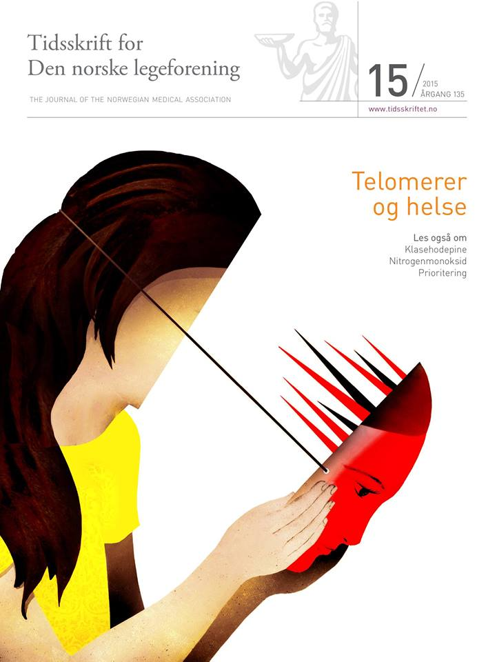 Cover of The Journal of Norwegian Medicine by Brian Stauffer about the effects of traumatic events on the children's brains
