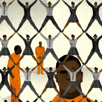 """illustration for the New Yorker """"Silent Majority"""" piece by Brian Stauffer"""