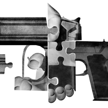 illustration for The New York Times about The Myth of the 'Autistic Shooter' by Brian Stauffer