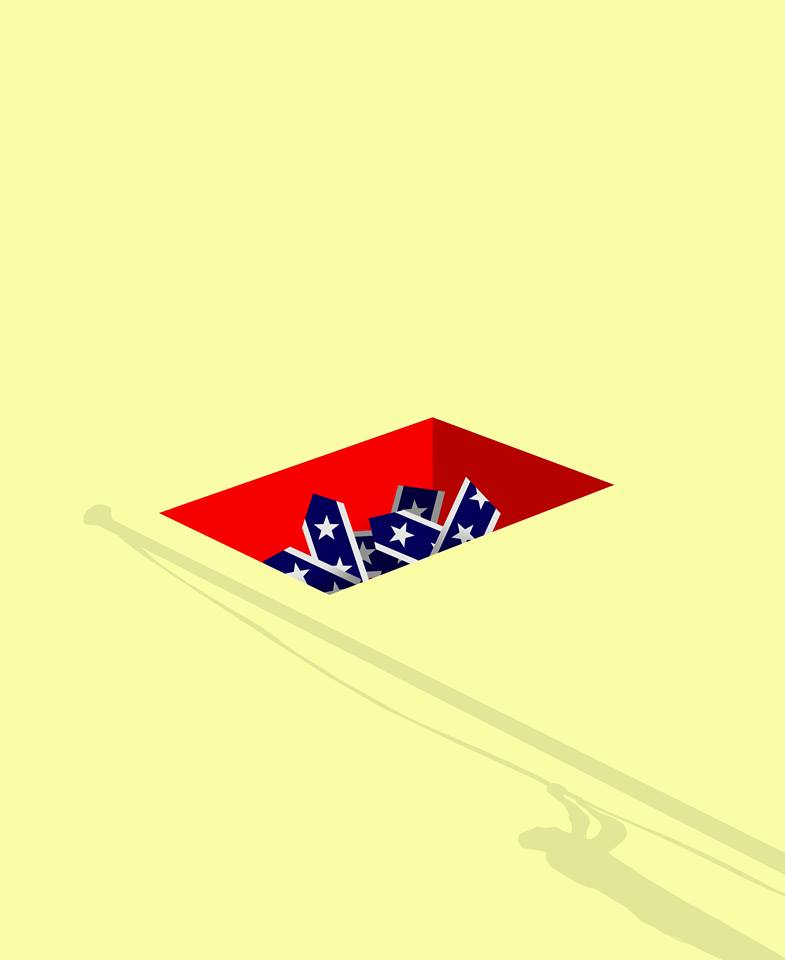 illustration about the Confederate-Flag-Controversy by Brian Stauffer