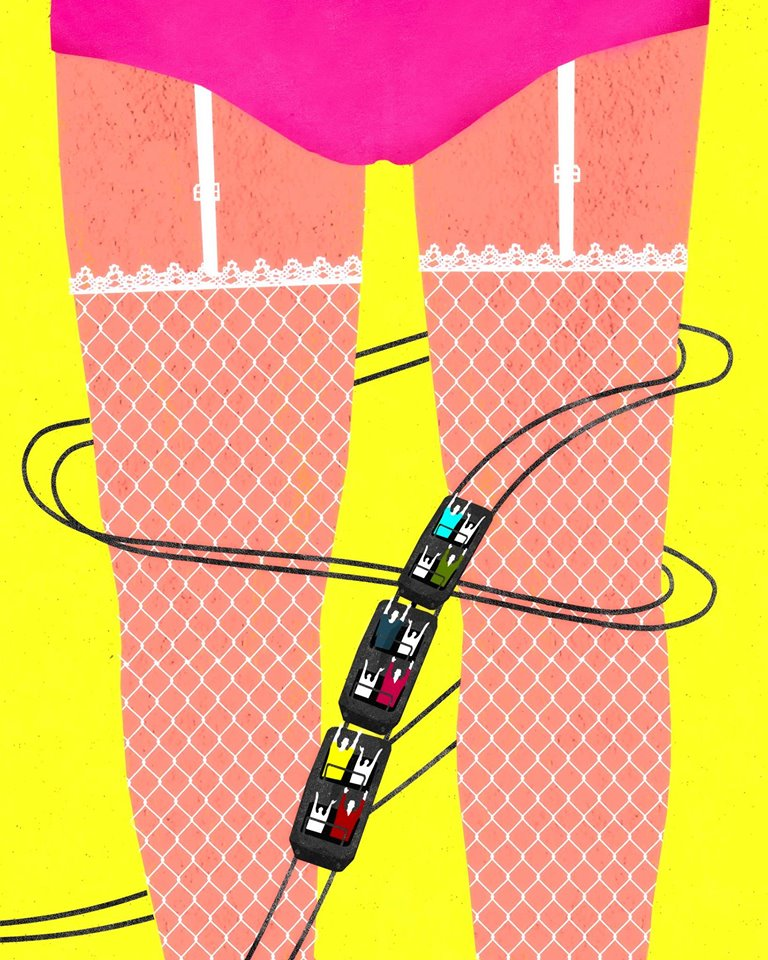 Playboy illustration about the disneyfication for Las Vegas by Brian Stauffer