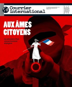 the cover of the French newspaper, Courrier International