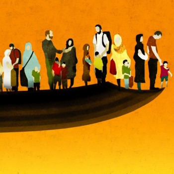 illustration by Brian Stauffer - Syrian Refugee Crisis for TIME Magazine