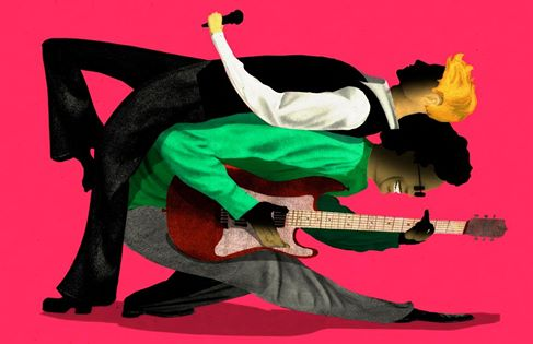 illustration by Brian Stauffer David Bowie and Carlos Alomar