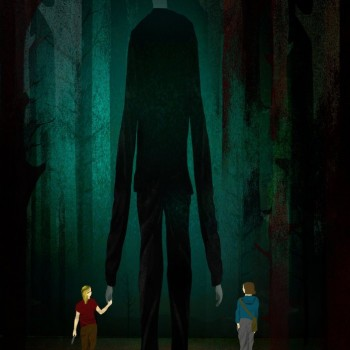 The Slender Man Stabbing illustration by Brian Stauffer