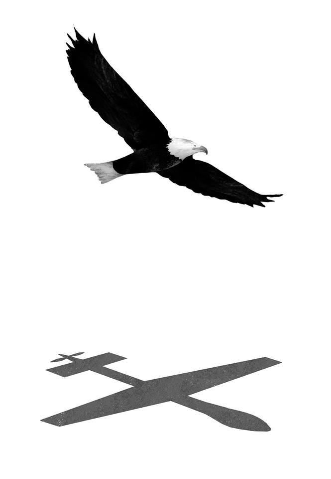 "Illustration for NYT Op-Ed about ""A call to bring drone strike campaigns out of the shadows."""