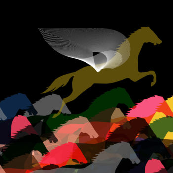 High achieving horse illustration by Brian Stauffer